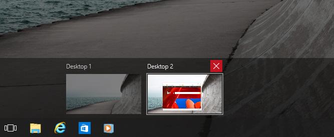 Closing desktops