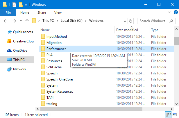 folder properties with hover over on folder icon