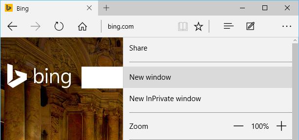 Click on New window