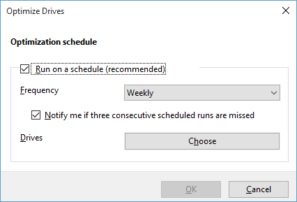 Scheduled Optimization