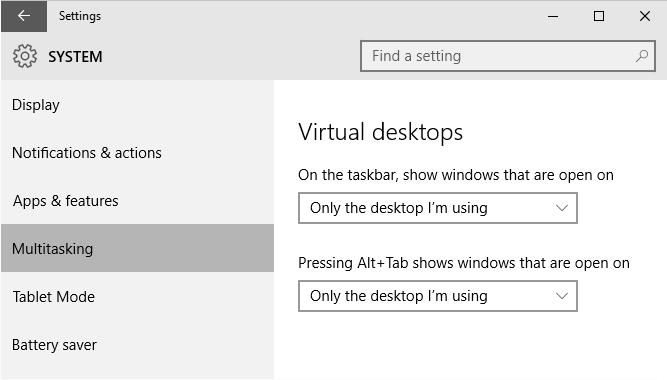 Customizing taskbar view