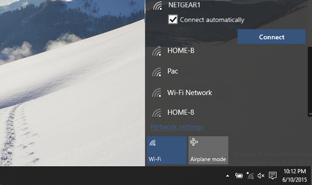 Select Wi-Fi hotspot you want to connect