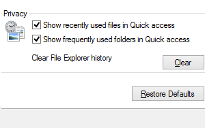 How to disable Frequent folders or Recent files in Windows 10 Quick Access