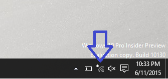 click on Wi-Fi icon