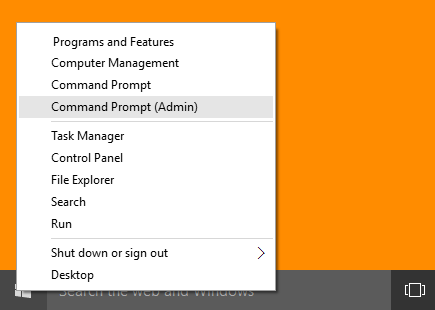opening command prompt(Admin)