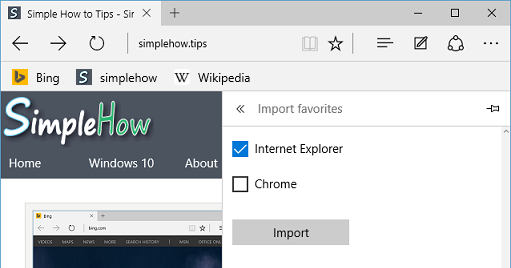 select browsers for import