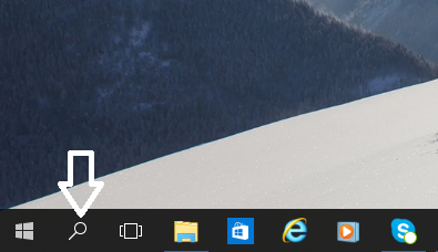 taskbar show search icon
